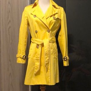 Gap Yellow Belted Trench Coat Jacket